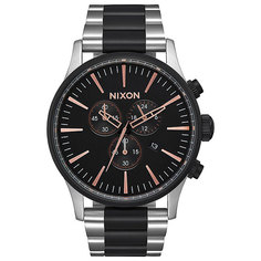 Кварцевые часы Nixon Sentry Chrono Black/Rose Gold