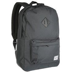 Рюкзак городской Herschel Heritage Dark Shadow Black Pebbled Leather