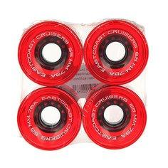 Колеса для скейтборда для лонгборда Eastcoast Shelby Clear Red 78A 65 mm