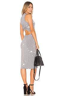 Платье с узлом сзади star dust - MONROW
