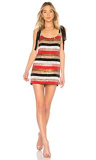 Мини-платье с пайетками и завязками suri - NBD