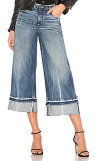 Укороченные джинсы с широкими штанинами canni - TORTOISE