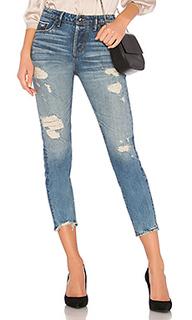 Укороченные джинсы узкого прямого кроя savanna - TORTOISE