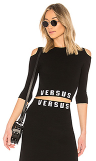Укороченный топ cut out shoulder - Versus by Versace