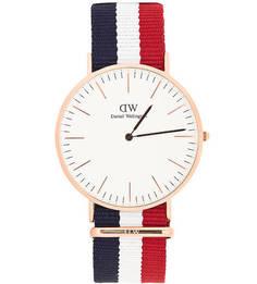Часы с текстильным ремешком Daniel Wellington