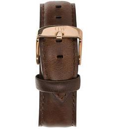 Кожаный ремешок для часов коричневого цвета Daniel Wellington