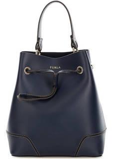 Маленькая кожаная сумка торба Furla
