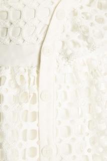 Белое ажурное платье Self Portrait