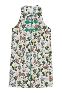 Хлопковое платье-мини с цветами Vivetta