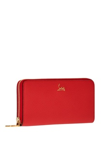 Красный кожаный кошелек W Panettone Christian Louboutin