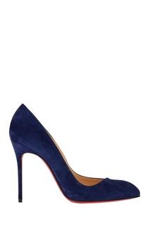 Синие замшевые туфли Corneille 100 Christian Louboutin