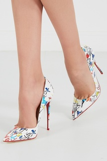 Белые туфли с принтом So Kate 120 Christian Louboutin