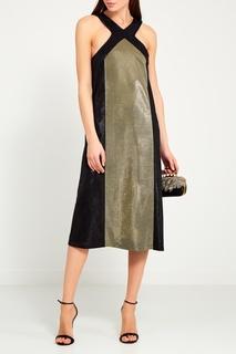 Платье с золотистой панелью La Pina