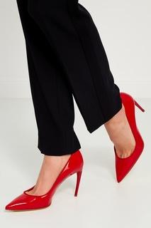 Красные лакированные туфли Alexander Mc Queen
