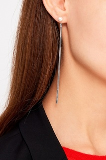 Серебристые серьги с жемчужинами Exclaim