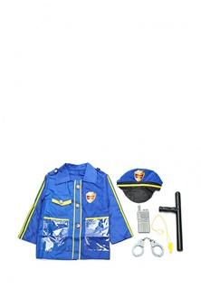 Важная работа. Форма полицейского, 6 предметов в наборе с аксессуарами, 37x47x3 см Abtoys