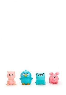 Веселое купание. Набор резиновых животных для ванной, 4 предмета (сова, енот, белка, заяц), в сетке, 12x4x16 см Abtoys