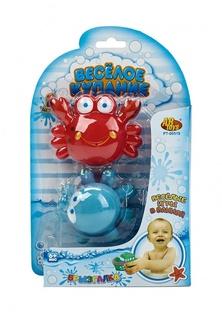 Веселое купание. Игрушка- брызгалка для ванной, в наборе 2 шт., 2 вида в ассортименте, на блистере, 15,5x3,8x24,5 см Abtoys