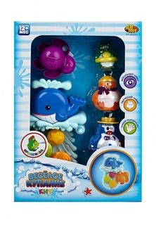 Веселое купание. Игрушки для ванной, в наборе с аксессуарами (5 предметов), в коробке, 25,7х37х8 см Abtoys