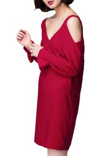 Свободное платье с открытыми плечами VILATTE