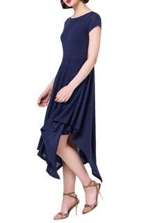 Асимметричное платье с V-образным вырезом на спине VILATTE
