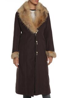 Полуприлегающее пальто с натуральным мехом ALBERTALLI