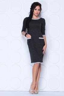 Приталенное платье с накладными карманами Laura Bettini