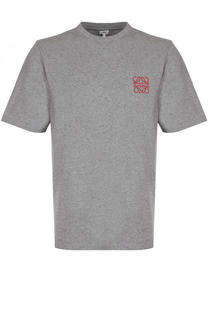 Хлопковая футболка с круглым вырезом Loewe