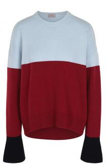 Пуловер с расклешенными рукавами из смеси шерсти и кашемира MRZ