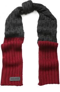Шерстяной шарф фактурной вязки Just Cavalli