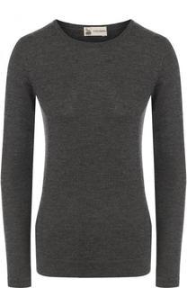 Пуловер из смеси шелка и кашемира с круглым вырезом Colombo