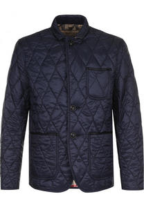 Утепленная стеганая куртка на пуговицах с отложным воротником Burberry