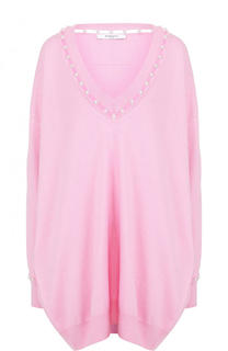 Пуловер свободного кроя из смеси шерсти и шелка с кашемиром Givenchy