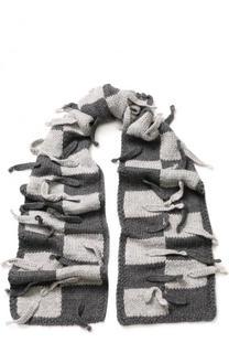 Шерстяной шарф с отделкой Loewe
