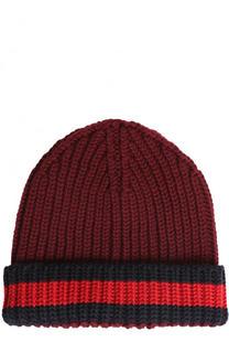 Шерстяная шапка фактурной вязки Gucci