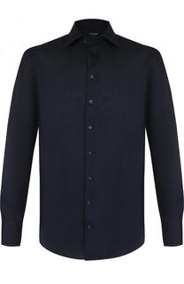 Льняная рубашка с итальянским воротником Giorgio Armani