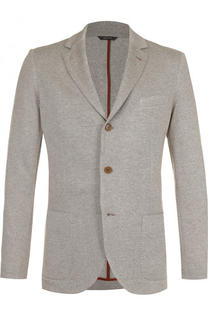 Однобортный пиджак из смеси шелка и кашемира Loro Piana
