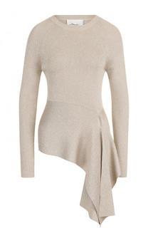 Приталенный пуловер асимметричного кроя с круглым вырезом 3.1 Phillip Lim