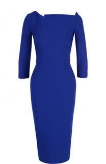 Однотонное платье-футляр с укороченным рукавом Roland Mouret