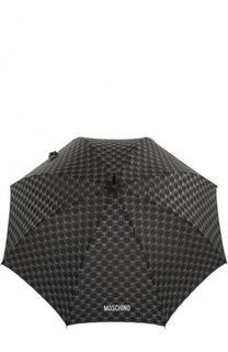 Зонт-трость с логотипом бренда Moschino