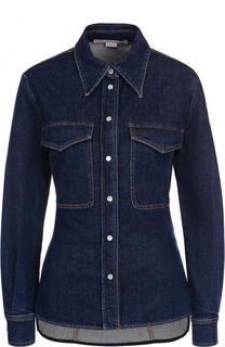 Приталенная джинсовая блуза с потертостями Stella McCartney