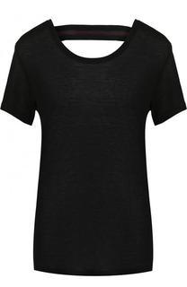 Однотонная футболка с открытой спиной Koral