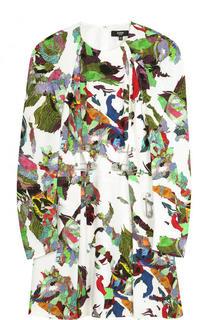 Приталенное мини-платье с принтом Versace