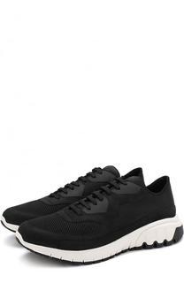 Комбинированные кроссовки на шнуровке Neil Barrett