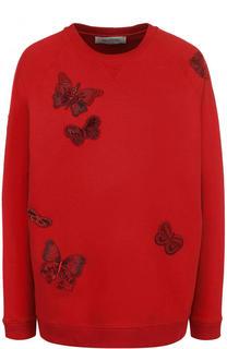 Хлопковый свитшот с отделкой в виде бабочек Valentino