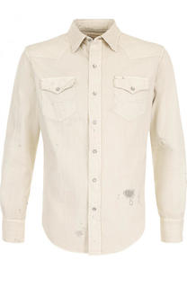 Джинсовая рубашка с декоративными потертостями Polo Ralph Lauren