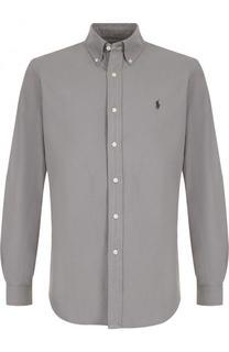 Хлопковая рубашка с воротником button down и логотипом бренда Polo Ralph Lauren