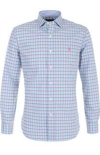 Хлопковая рубашка с воротником кент Polo Ralph Lauren