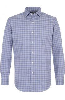 Хлопковая рубашка в клетку с воротником кент Polo Ralph Lauren