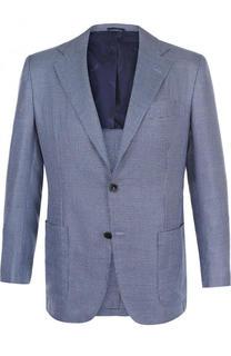 Однобортный пиджак из смеси шелка и кашемира Kiton
